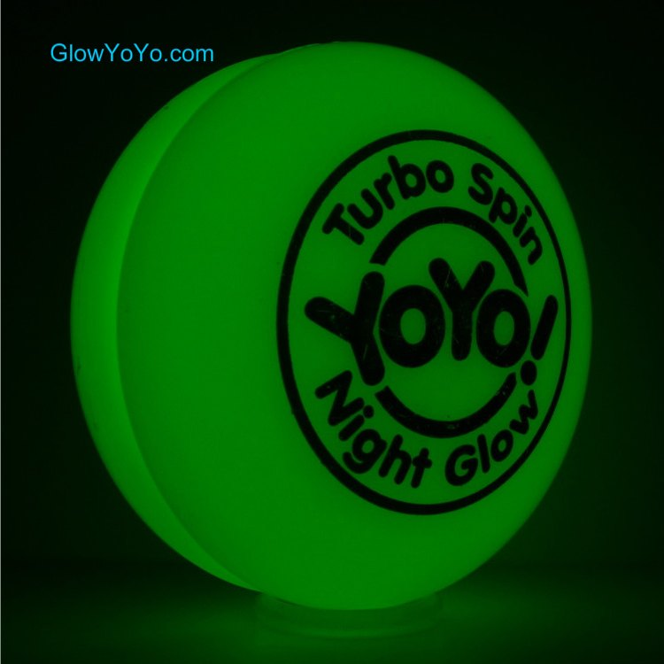 glow in the dark yoyo turbo spin night glow yoyo